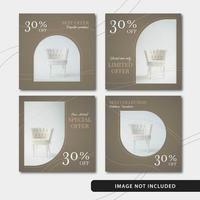 Elegant möbler för sociala medier vektor