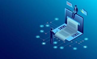 Elektroniskt faktureringsbetalningskoncept