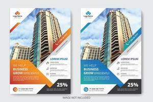 Abgewinkelte Image Design Business Flyer Vorlage vektor