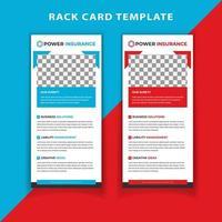 Rote und blaue vertikale Gestellkarte