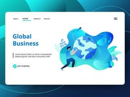 Global Business Website Vorlage