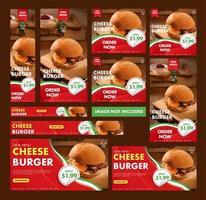 burger web banner collection vektor