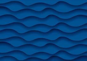 Abstrakt vågbakgrund i klassiskt blått vektor