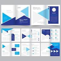 16 sidor för affärsbroschyr vektor