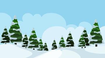 Schneebedeckte Landschaftsszene vektor