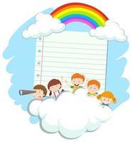 Ram mall med glada barn vektor