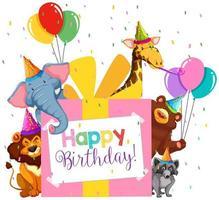 Alles Gute zum Geburtstag-Party-Thema vektor