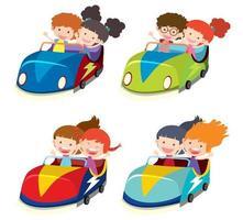 En uppsättning av bilar