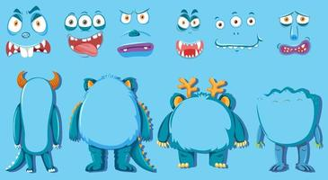 Set Monster Körperteil vektor