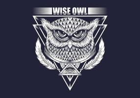 Wise Owl ritning vektor