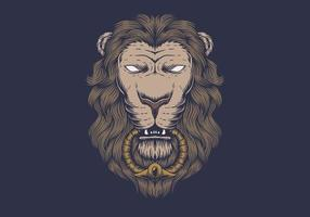 Lion head klassisk design vektor