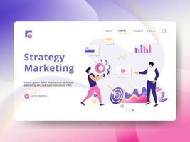 Landningssida för strategimarknadsföring vektor