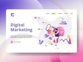Landing Page für digitales Marketing vektor