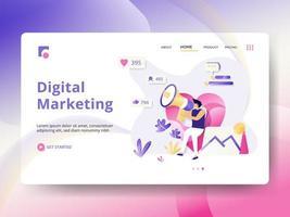 Målsida för digital marknadsföring