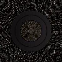 abstrakt bakgrund med guldprickmönster vektor