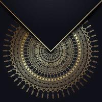 guld mandala bakgrund vektor