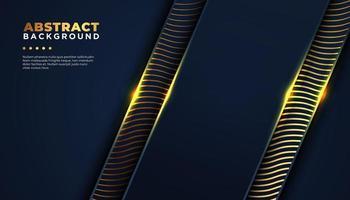 Dunkler Hintergrund mit abstrakter Goldlinie Formen vektor