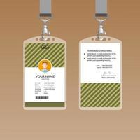 Mall för oliv ID-kort