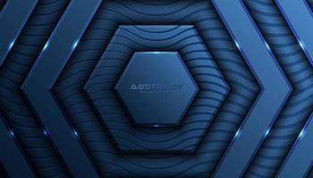 Überlagerter blauer Hexagon-Luxushintergrund