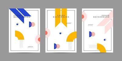Memphis täcker geometrisk design vektor