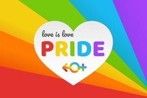 Happy Pride bakgrund vektor
