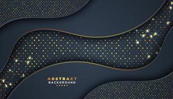 Mörk abstrakt bakgrund med vågiga överlappningslager vektor