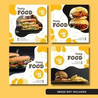 Elegant mat för sociala medier efter flytande stil vektor
