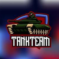 Tank Team Gaming Abzeichen Design vektor