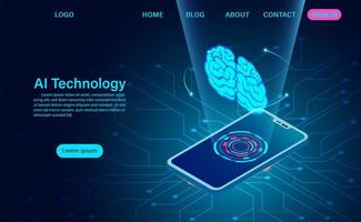 Technologiekonzept der künstlichen Intelligenz vektor