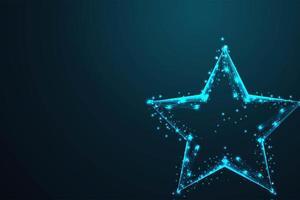 glödtråd låg poly geometrisk stjärnform