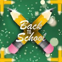 tillbaka till skolan design med pennor och bokeh