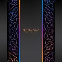 bunte vertikale aufgeteilte Mandala