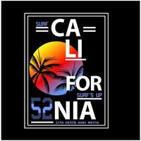 Kalifornien solnedgång strand typografi