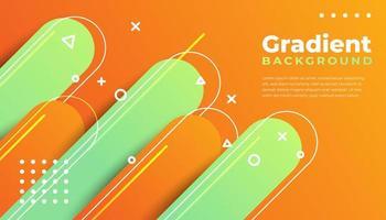 geometrischer und abgerundeter Hintergrund mit Farbverlauf