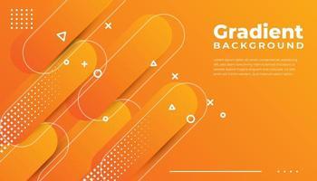 orange abgerundete geometrische Formen Hintergrund