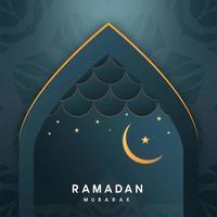 Ramadan Kareem Grüße im Torbogen