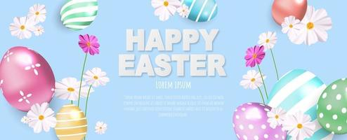 buntes Banner der glücklichen Ostern