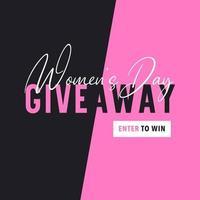 kvinnodagens giveaway gå in för att vinna banner