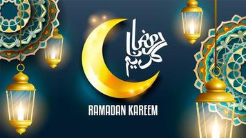 Ramadan Kareem Laterne Hintergrund vektor