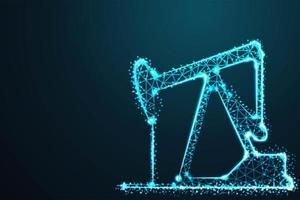 Ölgewinnung blauen Nachtstern Design vektor