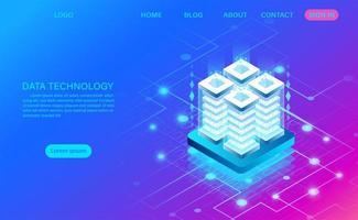 datateknologi abstrakt stack koncept