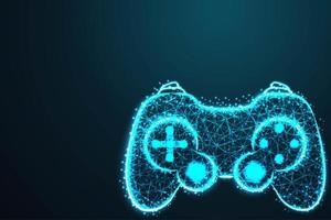 spelkontroller i modern blå abstrakt design