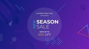 lila geometrisk försäljning banner mall