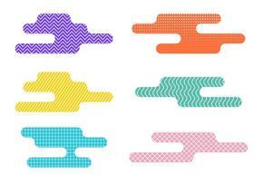 uppsättning abstrakta flytande designelement
