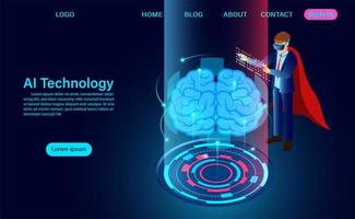 Technologiekonzept der künstlichen Intelligenz