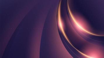 abstrakte Kurve glüht futuristisches Design vektor
