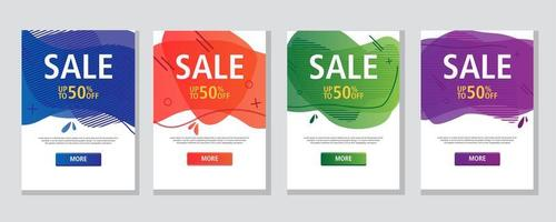 modern geometrisk flytande försäljningsuppsättning