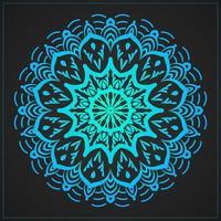 dekoratives Mandala mit blauem Farbverlauf vektor
