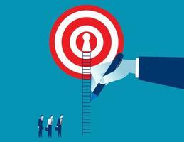 handritad väg upp för affärsman till framgång
