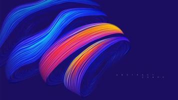 abstrakte futuristische Kurve Wirbelform